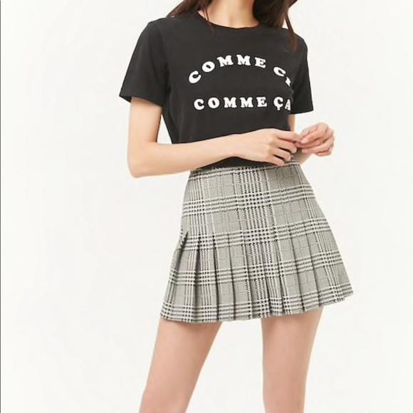 462cee0760 Forever 21 Skirts | Pleated Glen Plaid Skirt | Poshmark